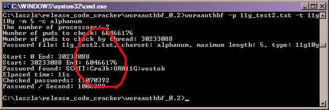 Brute Force attack with woraauthbf