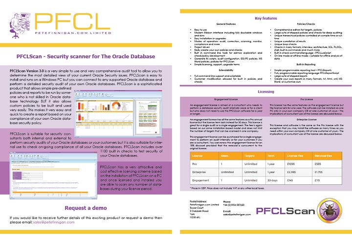 PFCLScan brochure