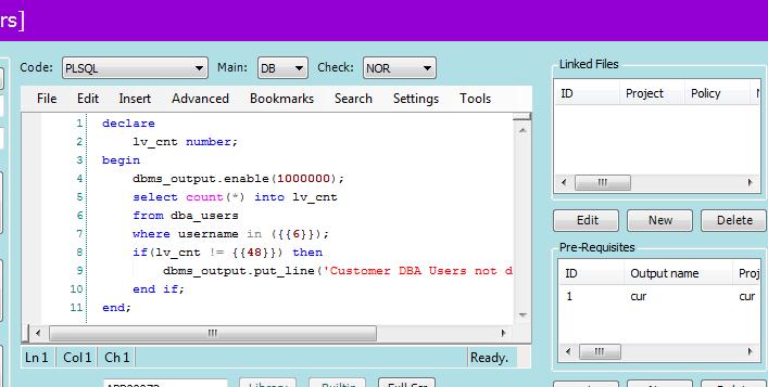 PFCLScan Check Code Editor