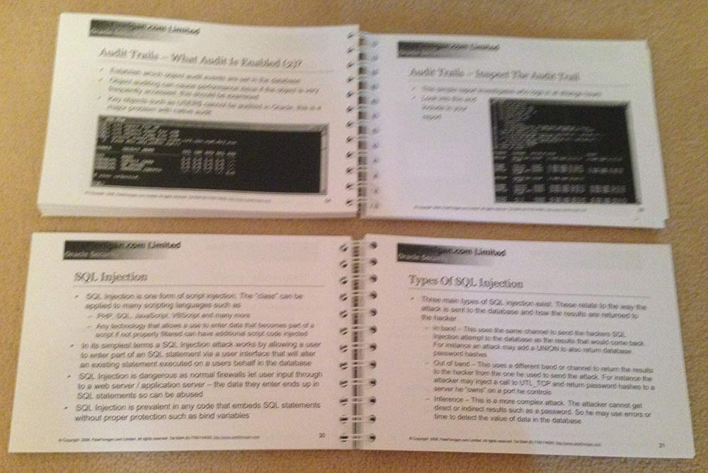 How to Perform a Security Audit Class notes - Two books