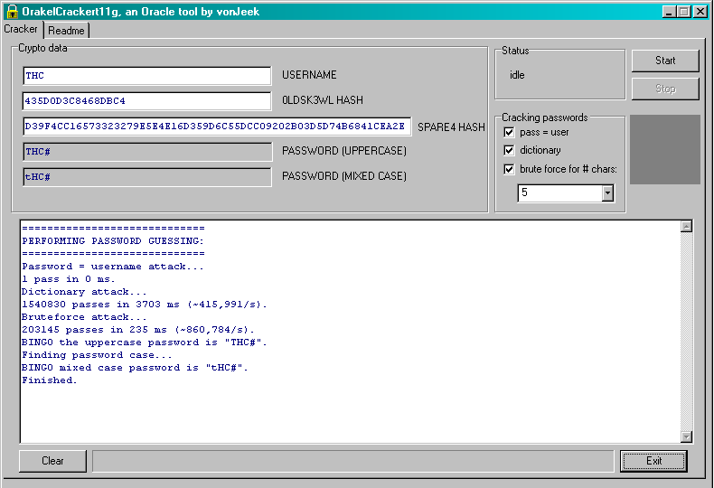 Oracle 11g Password Cracker